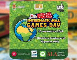 International Games Day 10 Novembre 2018