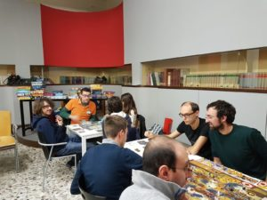 Giocatori all'International Games day @your library 10 Novembre 2018