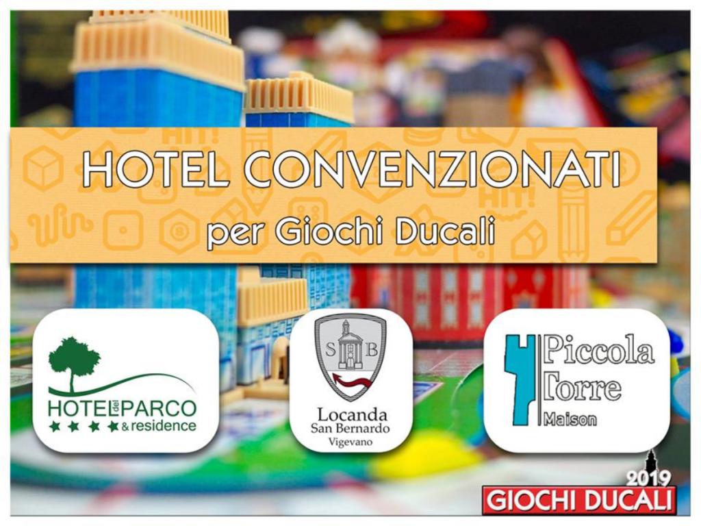 Hotel convenzionati: Hotel del parco, Locanda San Bernardo e Locanda La Piccola Torre