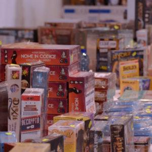 Giochi da tavolo in vendita presso i vari negozi presenti a GD19
